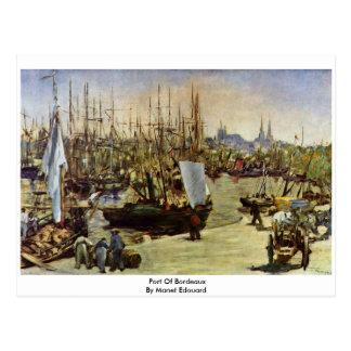Carte Postale Port de Bordeaux par Manet Edouard