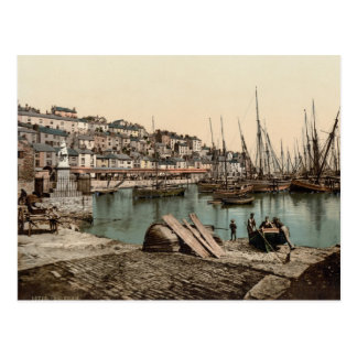 Carte Postale Port de Brixham, Devon c.1895