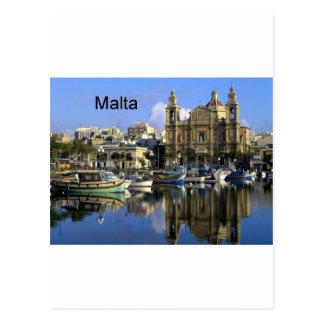 Carte Postale Port de Malte Vallete (St.K)