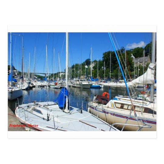 Carte Postale Port de plaisance de Morlaix BRETAGNE FRANCE