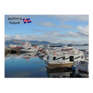 Carte Postale Port de Reykjavik, Islande