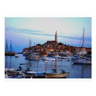 Carte Postale Port de Rovinj, Croatie