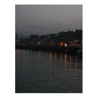 Carte Postale Port de Whitby la nuit