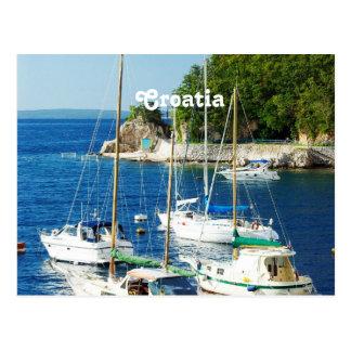 Carte Postale Port en Croatie