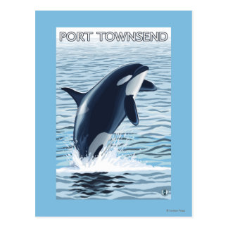 Carte Postale Port Townsend, sauter de WashingtonOrca
