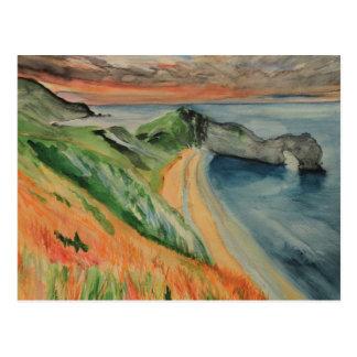 Carte Postale Porte de peinture pour aquarelle originale de
