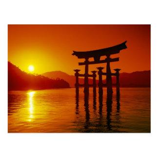 Carte Postale Porte d'O-Torii, tombeau d'Itsukushima, Miyajima,