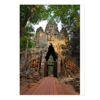 Carte Postale Porte du nord d'Angkor Thom, Cambodge