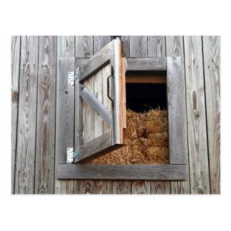 Carte Postale Porte en bois de grenier à foin de bâtiment