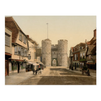 Carte Postale Porte occidentale, Cantorbéry, Kent, Angleterre