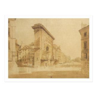 Carte Postale Porte St Denis, Paris (la semaine)