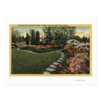 Carte Postale Portland, Orégon - azalées et rhododendrons