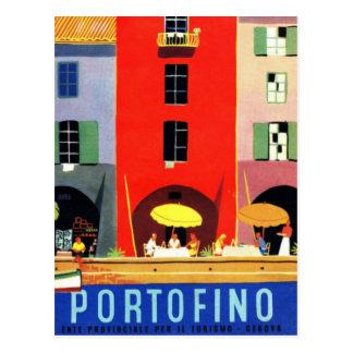 Carte Postale Portofino vintage Gênes Italie