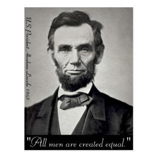 Carte Postale Portrait d'Abraham Lincoln Gettysburg