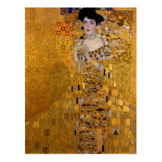 Carte Postale Portrait d'Adele Bloch-Bauer par Gustav Klimt 1907