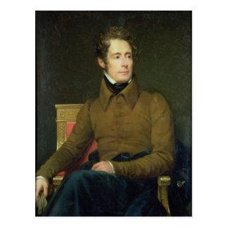 Carte Postale Portrait d'Alphonse de Lamartine, 1831