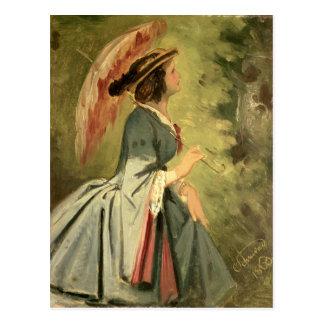 Carte Postale Portrait d'Anna, la fille de l'artiste, 1860