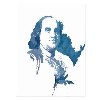 Carte Postale Portrait d'art de bruit de Ben Franklin dans le
