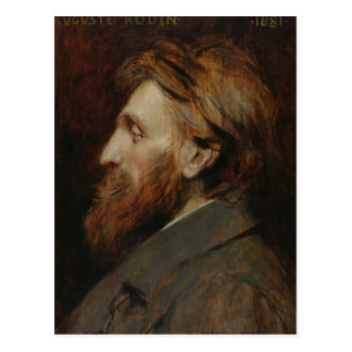 Carte Postale Portrait d'Auguste Rodin 1881