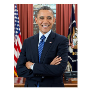Carte Postale Portrait de Barack Obama