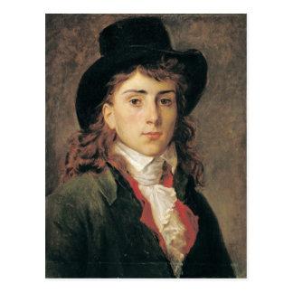 Carte Postale Portrait de baron Antoine Jean Gros âgé 20