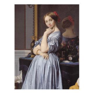 Carte Postale Portrait de beaux-arts de Dhaussonville d'othenin