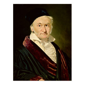 Carte Postale Portrait de Carl Friedrich Gauss, 1840