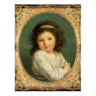 Carte Postale Portrait de Caroline Lalive de la Briche, 1786