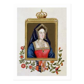 Carte Postale Portrait de Catherine d'Aragon (1485-1536) ęrs Qu