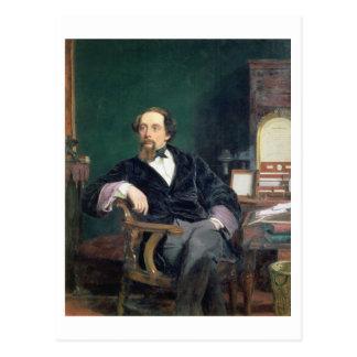 Carte Postale Portrait de Charles Dickens (huile sur la toile)