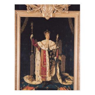 Carte Postale Portrait de Charles X dans des robes longues de