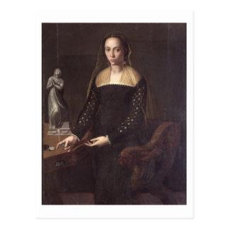 Carte Postale Portrait de dame, 1559 (huile sur le panneau)