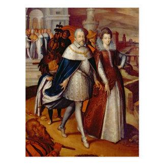 Carte Postale Portrait de Ferdinand I et sa nièce