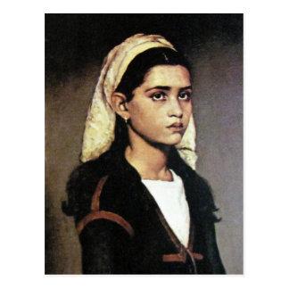 Carte Postale Portrait de fille gitane