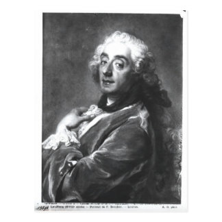 Carte Postale Portrait de Francois Boucher 1741