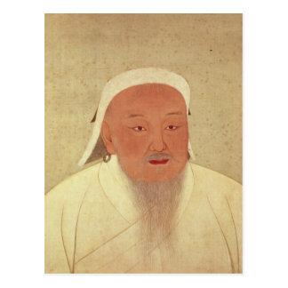 Carte Postale Portrait de Genghis Khan, mongole Khan