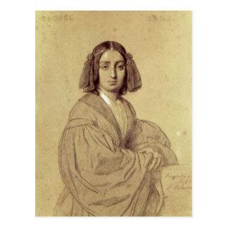 Carte Postale Portrait de George Sand 1837