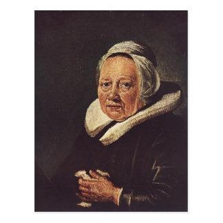 Carte Postale Portrait de Gerrit Dou de dame âgée