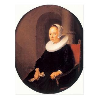 Carte Postale Portrait de Gerrit Dou d'une femme
