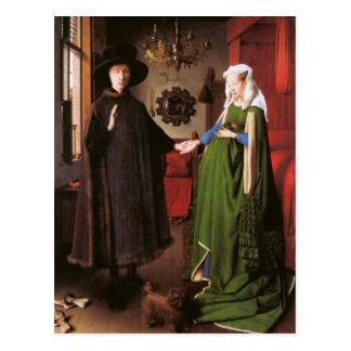 Carte Postale Portrait de Giovanni Arnolfini et son épouse