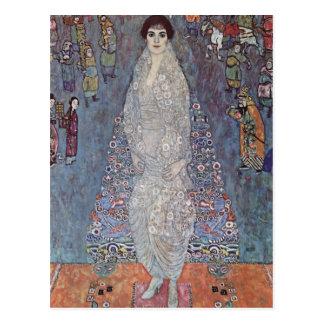 Carte Postale Portrait de Gustav Klimt- de baronne Bachofen-Echt