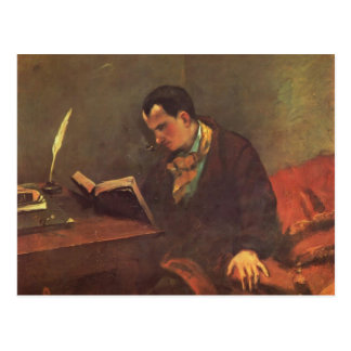 Carte Postale Portrait de Gustave Courbet- de Charles Baudelaire