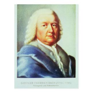 Carte Postale Portrait de Johann Sebastian Bach