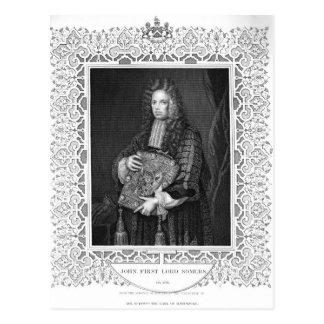 Carte Postale Portrait de John, ęr seigneur Somers