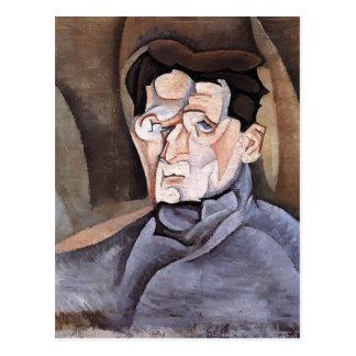 Carte Postale Portrait de Juan Gris- de Maurice Raynal