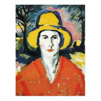 Carte Postale Portrait de Kazimir Malevich- de femme dans le