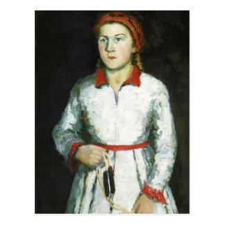 Carte Postale Portrait de Kazimir Malevich- de fille de