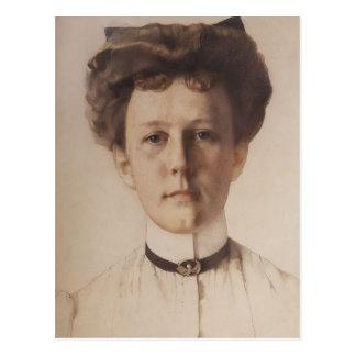 Carte Postale Portrait de Konstantin Somov- de baronne Nolde