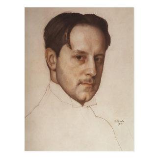 Carte Postale Portrait de Konstantin Somov- de M. Dobuzhinsky