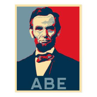 Carte Postale Portrait de Lincoln de style d'espoir